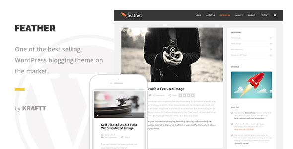 Feather Clean Flat Responsive WordPress Blog The