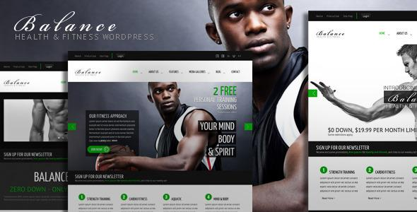 Balance Gym Fitness WordPress HTML 5 Theme