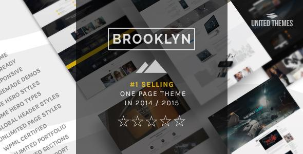 Brooklyn Creative One Page Multi-Purpose Theme