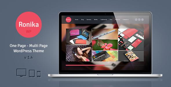 Ronika One Page/Multi Page WordPress Theme