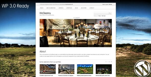 McCleanny WordPress 3.0 ready theme