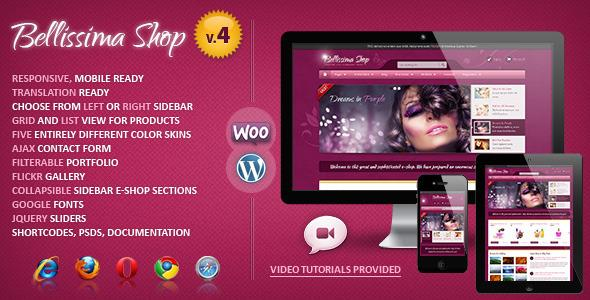 Bellissima Responsive WooCommerce Template