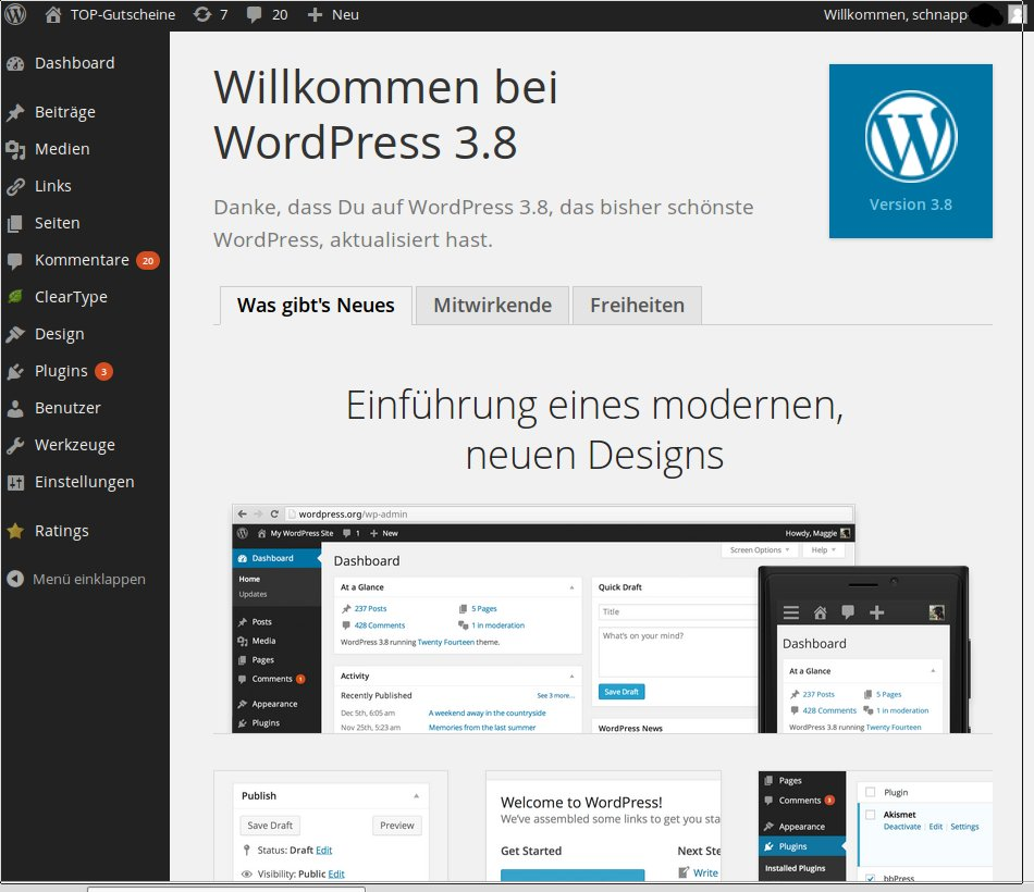 WordPress Version 3.8 erschienen